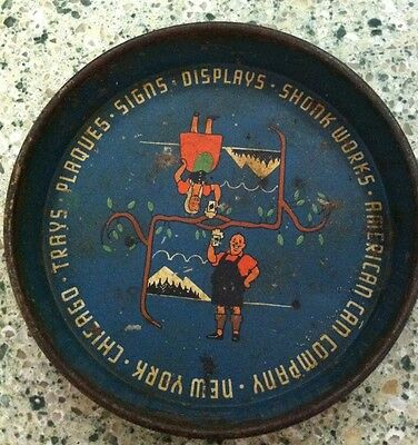 Vintage Tin Shonk Works American Can Co Small Mini Tray New York Chicago