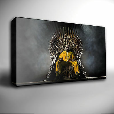 BREAKING BAD GAME OF THRONES GICLEE CANVAS WALL ART PRINT *Choose your size