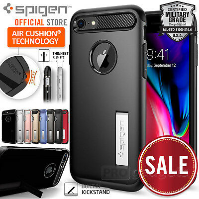 iPhone 8 Plus / 8 / 7/ 6S / 6 Case, Genuine SPIGEN SLIM ARMOR Cover for Apple