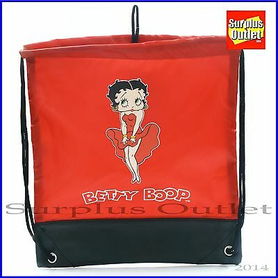 Betty Boop Sling Shoulder Bag Drawstring Backpack