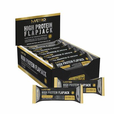 MATRIX HIGH PROTEIN FLAPJACK BARS - 24 x 75g BARS - ALL FLAVOURS