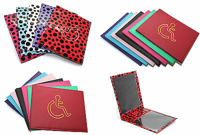 New PU Leather Disabled Badged Holder Protector With Logo Wallet Cover Parking