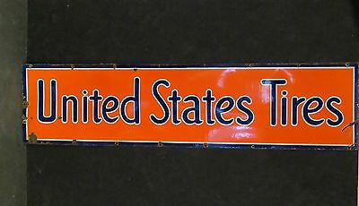 UNITED STATES TIRES Single Sided Porcelain Sign
