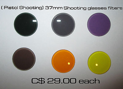 Shooting glasses filter for Pistol shooting 37mm 6 colors available