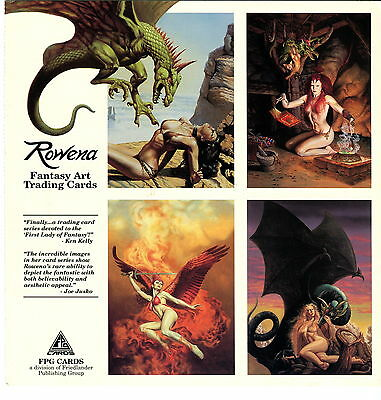 ROWENA FANTASY ART TRADING CARDS 1993 FPG OVERSIZE PROMO CARD NO NUMBER