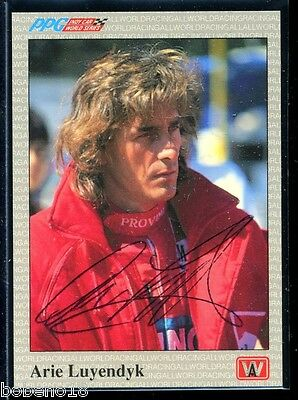 Arie Luyendyk signed autographed Auto 1991 AW Sports Indy Car Racing