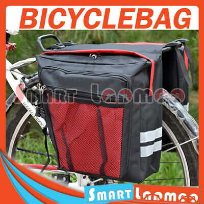 New Bike Bicycle Rear Rack Pannier Bag Waterproof Seat Box