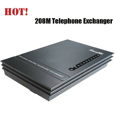 SOHO-PBX Telephone System Exchanger 208M 2 PSTN Co Lines x 8 Analog Extensions