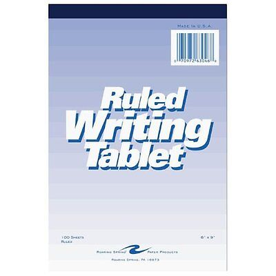 """Roaring Spring Ruled Writing Tablet - 100 Sheet - Ruled - 6"""" X 9"""" - 1 Each -"""