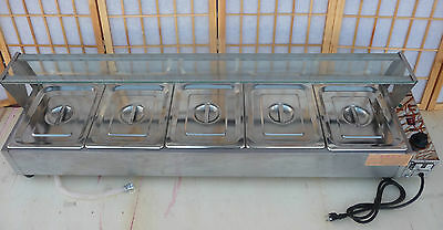 Commercial Electric Counter Top Steam Table  with Sneeze guard/Pans