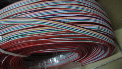 1 METER  IDC Connector 10-Way 10-pin Rainbow Ribbon Flat Cable  2.54mm pitch