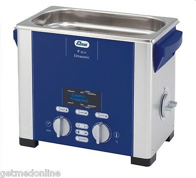 NEW! Elma Sonic P30H 0.75 Gal Ultrasonic Cleaner, Digital Control, 37 and 80Khz
