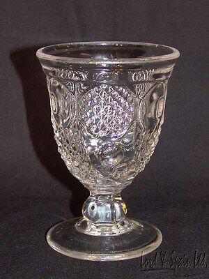 EAPG Flint Glass HORN OF PLENTY Egg Cup- 1830-50's