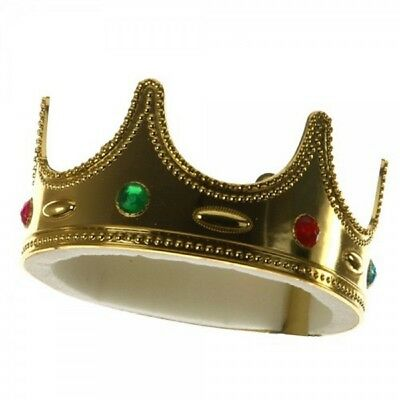Child Medieval Gold Kings King Crown Boys Prince Costume Headpiece Hat Accessory