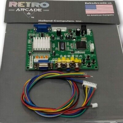 Arcade Game RGB/CGA/EGA/YUV to VGA Video Converter HD, Jamma, Mame, and More