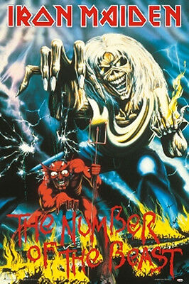 Iron Maiden Number Of The Beast Poster New  !