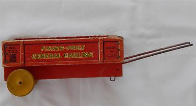 Fisher Price Pony Express wood wagon general hauling 1941 #733 (#1873)