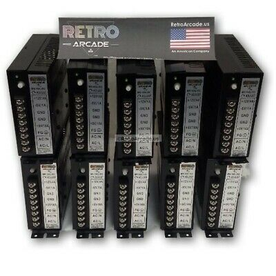 10 Pack 15A Arcade Switching Power Supply 110W 110V / 220V Jamma and Mame Ready