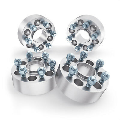 """4pc 1.5"""" 6x4.5 to 6x4.5 Hubcentric Wheel Spacers 12x1.25 