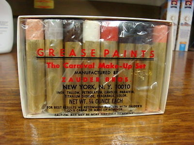 Zauders The Carnval Base Grease Paints  Makeup Set Halloween Theatrical Stage