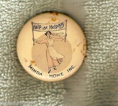 #I. Minda House, Help The Helpless, Tin Badge