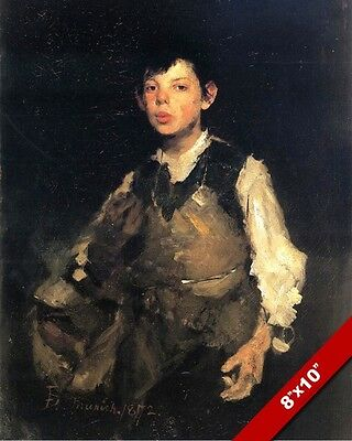 Young Tailor Boy Whistling On The Job Oil Painting Art Giclee Real Canvas Print