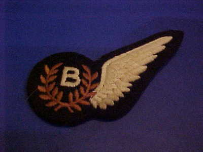ORIGINAL WWII RAF BOMBADIER WING FOR UNIFORM BRITISH AIR FORCE PATCH