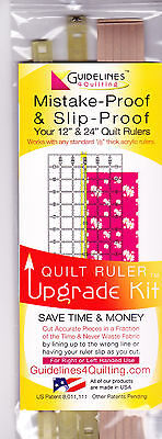 """Quilt Ruler Upgrade Kit - for 12"""" and 24"""" rulers"""