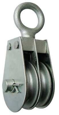 5ULL4 Dbl Pulley Block, Wire Rope, 600 lb Cap.