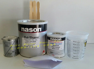 Super jet black Dupont /Nason 2k ful-thane single stage urethane auto paint