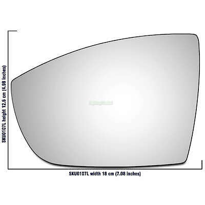 Left Side Wide Angle Mirror Glass for Ford Kuga 2008-2019 0107LAS