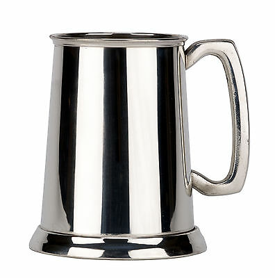 19 oz English Pewter High Polished Tankard by Pinder Brothers, Engraved Free NIB