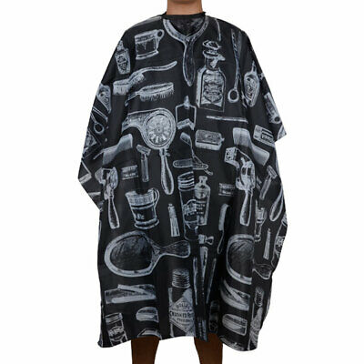 Black Pro Salon Hairdressing Hairdresser Hair Cutting Gown Barber Cape Cloth
