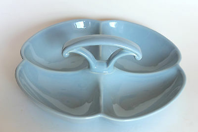 VINTAGE LURAY TAYLOR SMITH & TAYLOR  WINDSOR BLUE RELISH CONDIMENT TRAY DISH
