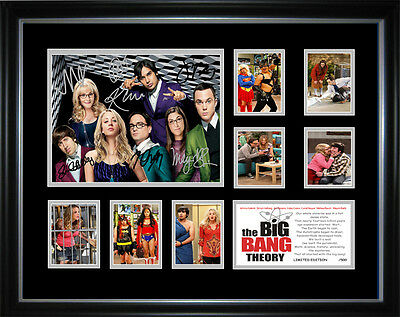 New Big Bang Theory Signed Framed Memorabilia