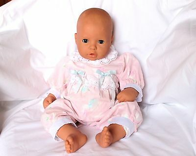 """ZAPF Creation Baby Doll Brown Sleepy Eyes for Reborn or Play Germany 19"""""""