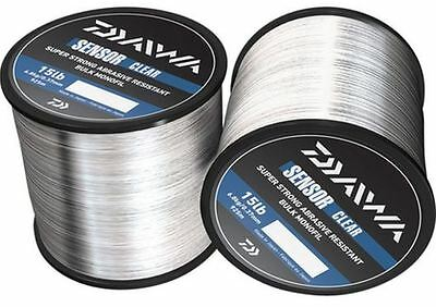 Daiwa Sensor Bulk Spool Clear Monofil Fishing Line All Sizes Available