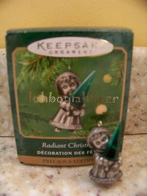 Hallmark 2001 Miniature Radiant Christmas Pewter Ornament