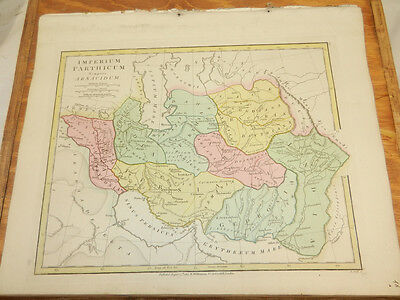 1808 Antique COLOR Map//ATLAS CLASSICA//PARTHIAN EMPIRE
