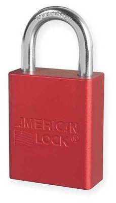 AMERICAN LOCK A1105RED Lockout Padlock, KD, Red, 1/4In Shackle Dia