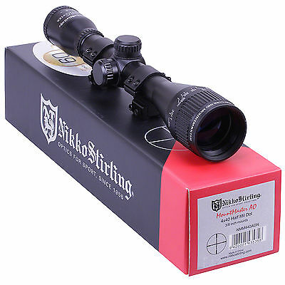 "Nikko Stirling Mountmaster 4x40 Parallax AO Rifle SCOPE + 11mm 3/8"" Mount Rings"