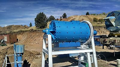 3'x6' ball mill grinder crusher impact pulverize gold silver mining