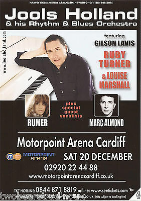 Event Promo Flyer: Jools Holland (Motorpoint Arena, Cardiff, 2014)