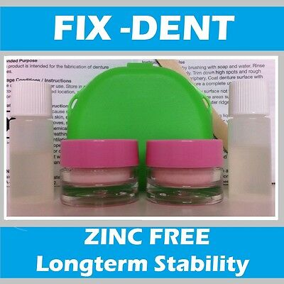 Fix-Dent Soft Denture Reline 2 kits - easy! mix and apply