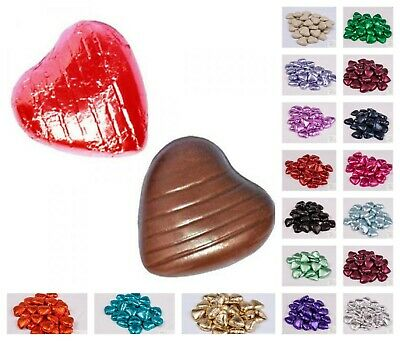 Foil Wrapped Belgian Milk Chocolate Hearts Wedding Party Sweet Table Favours