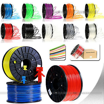3D-Printer filament ABS/PLA 1.75mm/3.00mm 1 kg various 10 color for makerbot
