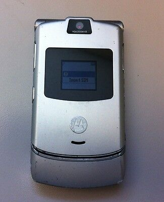 Motorola RAZR V3 Cell Phone (Used, Silver, AT&T, Clean ESN)  | PH1704