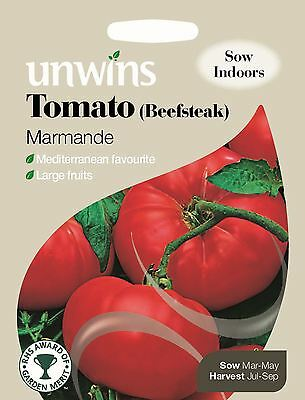 Unwins Pictorial Packet - Vegetable - Tomato (Beefsteak) Marmande - 70 Seeds