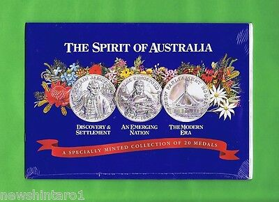 #d136.  The Spirit Of Australia 20 Medal Collection