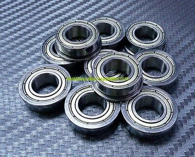 F63800ZZ 10 PCS Metal Shielded FLANGED Ball Bearing F63800Z 10x19x7 mm